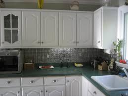 Tin Backsplashes For Kitchens Decor Tips Stylish White Kitchen Cabinet With Cabinet Hardware