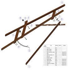 Easel Design Plans A Frame Tripod Easel Plan