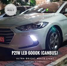 2018 Hyundai Elantra Daytime Running Lights Hyundai Elantra Ad Model S White Drl P21w Led 6000k Canbus