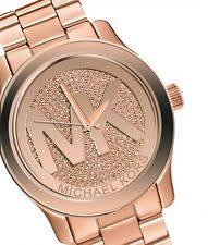 michael kors rose gold watch michael kors women s runway rose gold tone watch mk5661