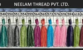 Neelam Thread Color Chart Viscose Rayon Shades Neelam Thread