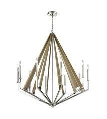 10 light chandelier elk inch polished nickel ceiling burkley sputnik 10 light chandelier