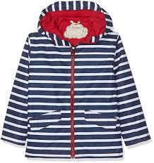 Hatley Kids Baby Boys Navy Stripes Microfiber Rain Jacket Toddler Little Kids Big Kids
