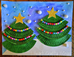 Paper Plate Christmas Ornament Craft For Kids  Paper Christmas Christmas Arts And Crafts For Preschoolers
