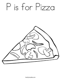 Small Picture P is for Pizza Coloring Page Twisty Noodle