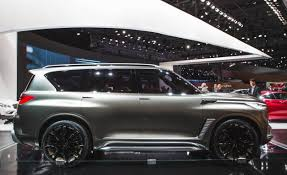 2018 infiniti x80. wonderful 2018 along with improving the qx80u0027s face infinitiu0027s atsugi japan design  studio also added light strips to headlights that extend length of fender  throughout 2018 infiniti x80