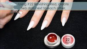 Valentines Day Heart Designs on trendy Almond Stiletto Nails: Bio ...