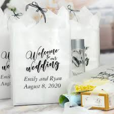gifts favors large wedding gift bags personalised wele day x for qty grey paper