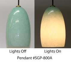 picture of limited edition celadon hand blown glass pendant light blown glass lighting pendants