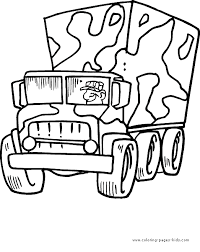 Military Color Pages Coloring Pages For Kids Transportation