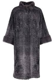 Серый <b>Меховое пальто</b> каракуль <b>BELLINI</b>   вечерний илхом ...