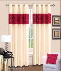 Red Curtains Living Room Red And Cream Curtains For Living Room Decorate Our Home With