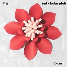 Red Paper Flower 40cm Cardstock Rose Diy Easy Giant Paper Flowers 4 Wedding Backdrops Decorations Nursery Wall Decor Teachers Flower Tutorials