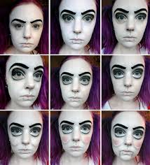 paint you face neck white you could use any type of makeup for this face paint cream makeup i used illamasqua rich liquid in shade 100
