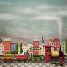 AOFOTO 6x6ft Cartoon Village Color ...