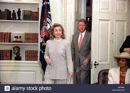 stock photo us president bill clinton and first lady hillary clinton walk into the oval office of the white house for the weekly radio address on social bill clinton oval office
