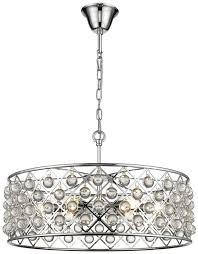 laura chrome 6 light crystal ceiling light pendant llslauc6p luxury lighting