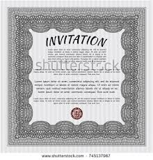 Vintage Invitation Template New Grey Vintage Invitation Template Vector Illustration Stock Vector