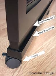 Room Divider How To  Wheels On The Room Divider Provide Endless Options For  Positioning. #RoomDividerCloset
