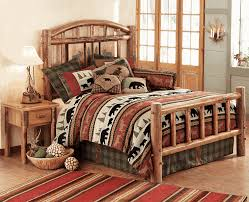 Pine Log Bedroom Furniture Moose Creek Log Bedroom Furniture