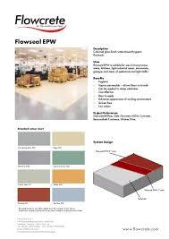 Flowcrete Color Chart Flowseal Epw Arcon Supplies