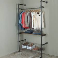 Diy Pipe Coat Rack Garment Racks Made With Pipe And Fittings Give An Industrial Feel 65