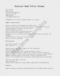 Objective Statement For Teller Resume Bank Cover Letter Head