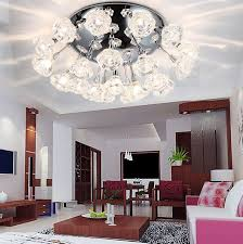 living room ceiling lighting ideas. living room. cool cans ceiling light ideas with crystal flower embellishment decoration for room lighting
