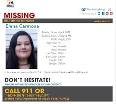 Zeeland police confirm 15-year-old girl has been found safe