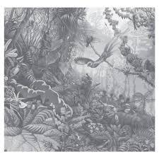Tropical Landscapes Zwart Wit Vliesbehang 2922x280cm 6 Sheets