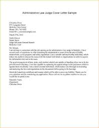 How To Write A Legal Letter.Administrative Law Judge Cover Letter ...