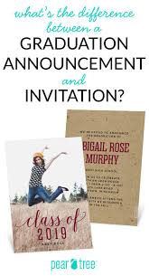 Formal Graduation Announcement Difference Between Graduation Announcements Invitations