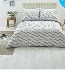 sainsburys home grey slate circle print bedding set double duvet set bed linen