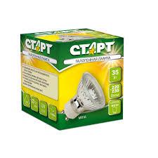<b>Лампа галогенная Старт</b> 35 Вт GU10 2850k теплый белый спот