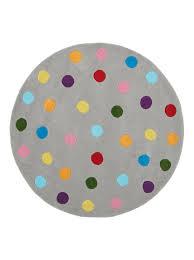 polka dot round kids rug