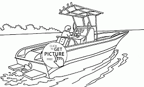 Small Picture Real Speed Boat Coloring Page For Kids Transportation Coloring