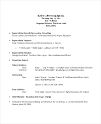 Example Of Agenda For A Meeting Delectable 48 Meeting Agenda Examples