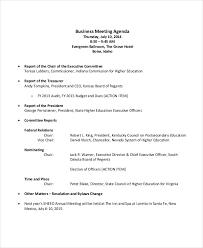 Agenda Examples Enchanting 48 Meeting Agenda Examples