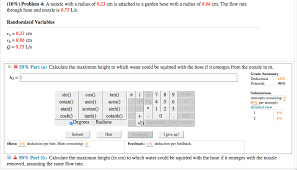 10 problem 4 a nozzle with a radius of 0 23 cm is