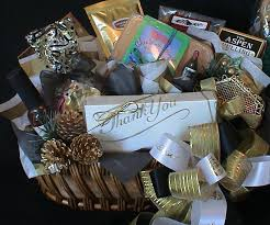 say thank you with one of our beautiful gourmet gift baskets made to fit your budget and style