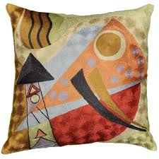 Living Room Accessory Decorative Sofa Pillows Artwork Inspired Accent Cushion Cover