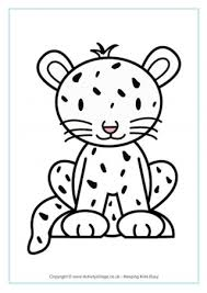 Free printable coloring pages for kids! Cheetahs