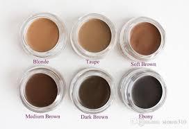 Pomade Makeup Eyebrow Waterproof Eyebrow Enhancers  Blonde/Auburn/Chocolate/Dark Brown/Ebony/Soft Brown/Taupe/Medium Browm  Cosmetics Eyebrow Shapes From ...