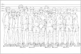 Haikyuu Height Chart Official Height Chart Comparison Of The Entire Karasuno Team