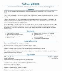 Cafe Attendant Sample Resume Amazing Coffee Shop Worker Resume Sample Worker Resumes LiveCareer