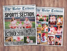 Newspaper Pregnancy Announcement Birth Announcement