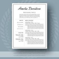 Etsy Resume Professional Resume Template For Word 2424 Page Resume Cover 8