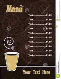 Cafe Menu Template Menu Template Vector Stock Vector Illustration Of Editable 24 7