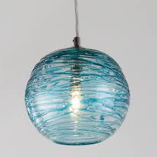 sea glass chandelier. Swirling Glass Globe Mini Pendant Light Sea Chandelier A