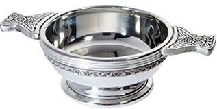 iluv pewter quaich scottish celtic band standard size tasting bowl ideal christening gift engravable